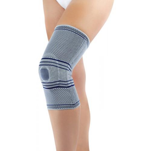 Typ B02 - Bandáž kolenní úpletová se silikonovou stabilizací pately