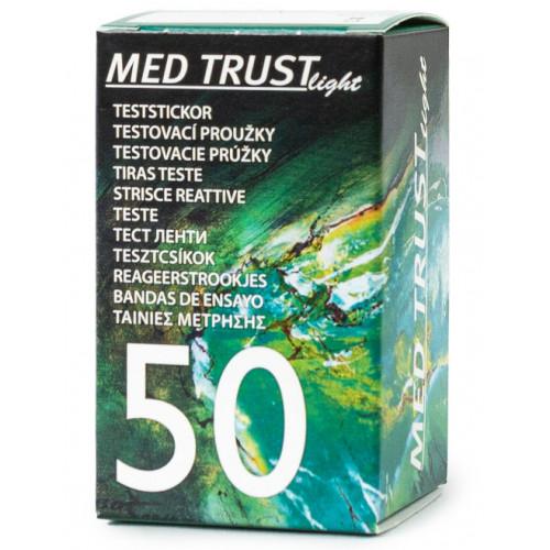 Testovacie prúžky do glukomera MED TRUST Light 1x50 ks