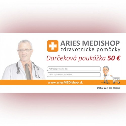 Darčeková poukážka 50 € - S-DARCEKOVA POUKAZKA 50 €