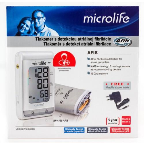 Tlakomer MICROLIFE BP A150 AFIB s detekciou arteriálnej fibrilácie
