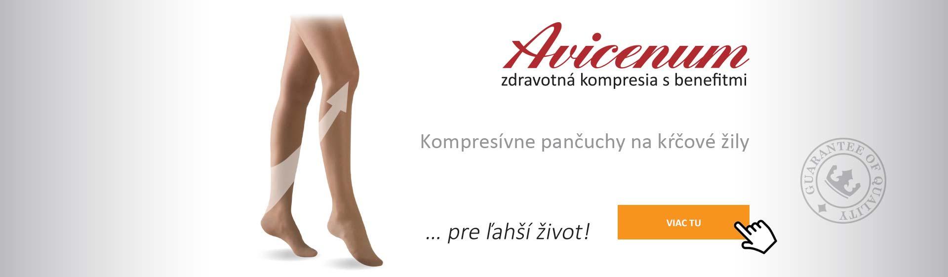 Zdravotné kompresívne pančuchy Avicenum ... kliknite tu