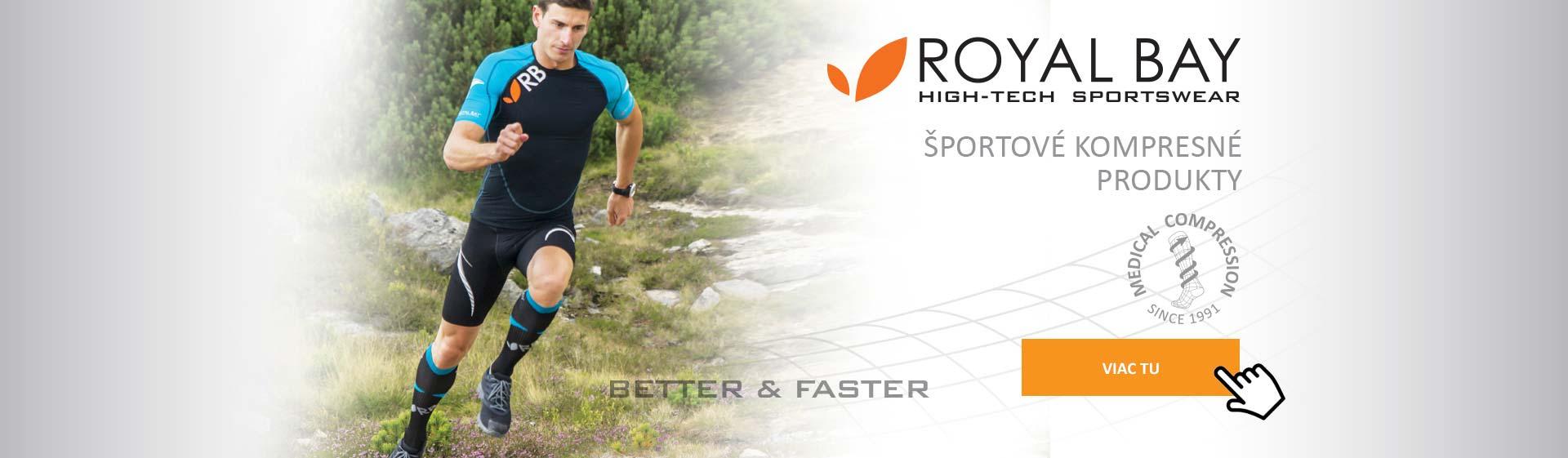 Sportovní kompresní produkty ROYAL BAY ... klikněte zde